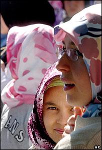 Headscarf protest in Strasbourg, France