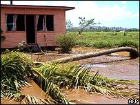 Storm damage in Fiji (archive)