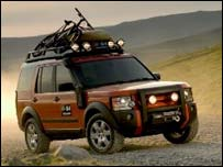 Land Rover off-roading