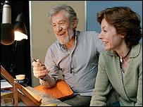 Sir Ian McKellen and Michelle Paver