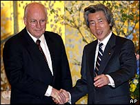 US Vice President Dick Cheney meets Japanese Prime Minister Junichiro Koizumi in Japan