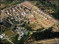 Aerial view of Netzarim settlement in Gaza