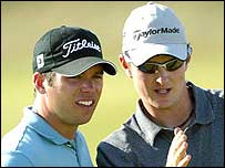 Paul Casey and Justin Rose teamed up to represent England at the World Cup