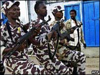 Private Somali militia training