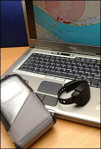 The tracking device will be monitored by a control station