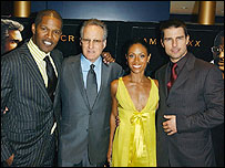 Jamie Foxx, Michael Mann, Jada Pinkett Smith and Tom Cruise