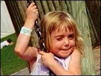 Emma Frame on swing