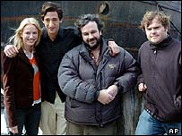 Left to right: Naomi Watts, Adrien Brody, Peter Jackson and Jack Black
