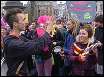 Opening rally in Trafalgar Square
