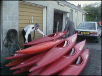Canoes from the Lyme Bay tragedy