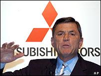 Mitsubishi Motors' Chief Executive Rolf Eckrodt