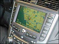 Speaking navigation system on dashboard of car
