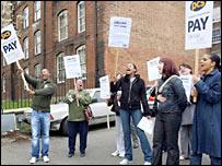 Civil servants on the picket line