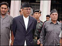 Prime Minister Sher Bahadur Deuba (centre)