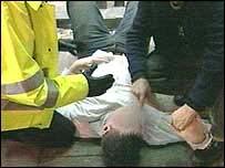 Police arrest a yob