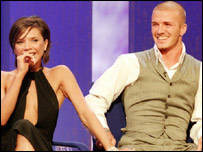 Victoria and David appear on the chat show Parkinson