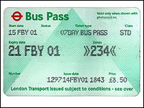 London bus pass
