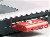 Vodafone 3G data card, Vodafone