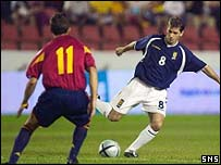 Jackie McNamara played in a midfield role