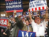 Delegates at the Republican convention in New York city