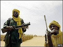 Members of the rebel Justice and Equality Movement in Darfur, Sudan