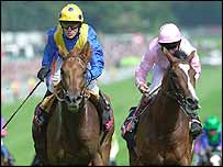 Kris Kin (left) won the 2003 Vodafone Derby