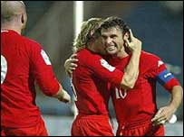 Gary Speed scored the opening goal