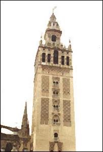 Aspecto de la torre de La Giralda, en Sevilla, España.