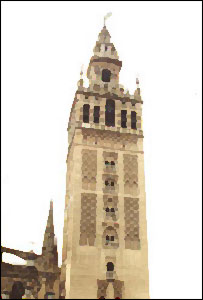 Aspecto de la torre de La Giralda, en Sevilla, Espa�a.