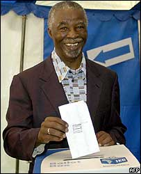 President Mbeki votes in Pretoria