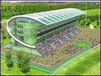 Manchester racecourse - an artist's impression