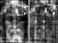 Turin shroud - front and back. Picture: Institute of Physics