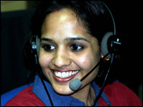Call centre worker in India