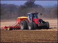 Tractor in field   BBC