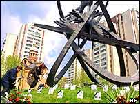 Chernobyl memorial in Kiev   AP