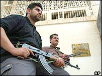 Guards at Russian embassy in Baghdad
