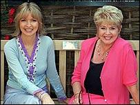 Caron Keating and Gloria Hunniford