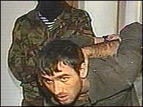 Alleged hostage-taker on Russian Channel One television