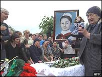 Burial of Alina Khubetsova in Beslan on Sunday