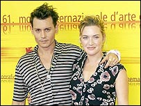 Johnny Depp y Kate Winslet.