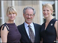 Kate Capshaw, Steven Spielberg and Gwyneth Paltrow