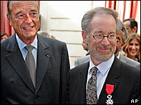 Jacques Chirac and Steven Spielberg