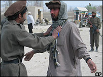 Police carry out a search in Paktika