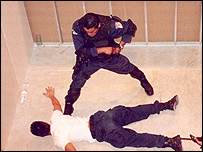 Federal Investigation (AFI) officers practice a kidnap release operation