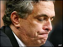 CIA director George Tenet testifies before the 9/11 commission
