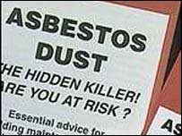 Asbestos warning leaflet
