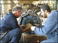 Renovation work at Al-Doura power plant, Baghdad