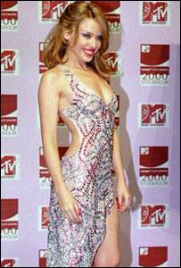 Kylie Minogue in a Julien Macdonald dress