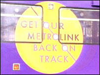 Metrolink 'Back on Track' tram