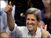 John Kerry campaigning in Ohio